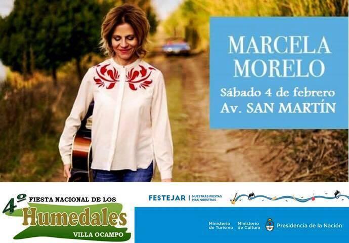 Marcela Morelo estara en Villa Ocampo